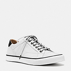 COACH FG1056 Perkins Lo Top Sneaker WHITE/BLACK