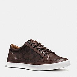 COACH FG1078 Porter Lo Top Sneaker MAHOGANY
