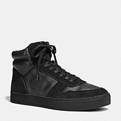 COACH FG1079 Dewitt High Top Sneaker BLACK/BLACK