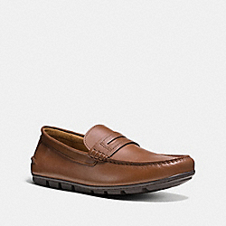 COACH MOTT PENNY LOAFER - DARK SADDLE - FG1089