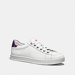 COACH FG1259 Porter Lace Up WHITE/BLACK