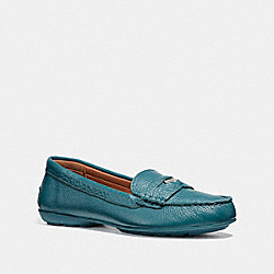 COACH FG1268 Coach Penny Loafer DK TEAL