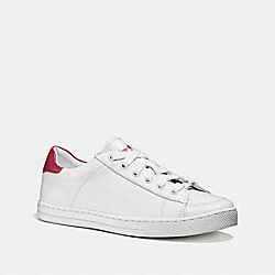 COACH FG1271 Porter Lace Up WHITE/TRUE RED