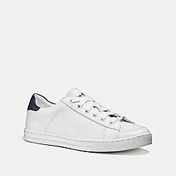 COACH FG1271 Porter Lace Up WHITE/MIDNIGHT NAVY