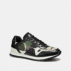 COACH FG1306 Carter Runner In Perforated Camo DARK GREEN CAMO