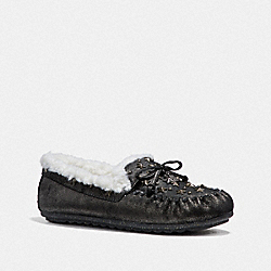 COACH FG1438 Shearling Moccasin ANTHRACITE