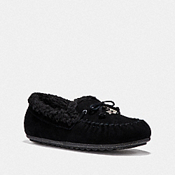 COACH FG1439 Shearling Moccasin BLACK