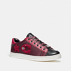 COACH FG1457 Porter Lace Up WINE/TRUE RED