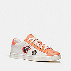 COACH FG1457 Porter Lace Up WHITE/CORAL
