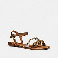 COACH FG1465 Chain Strap Sandal SADDLE