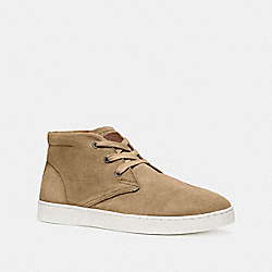 COACH FG1504 Suede Boot CAMEL