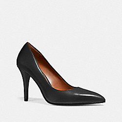 COACH FG1538 Pointed Toe Pump BLACK