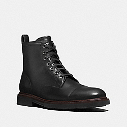 COACH FG1604 Henry Cap Toe Boot BLACK