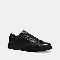 COACH LOGAN LOW TOP SNEAKER - BLACK/BLACK - FG1618