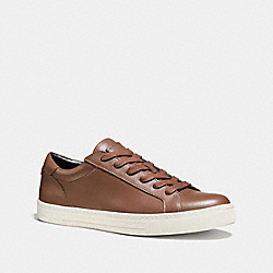 COACH LOGAN LOW TOP SNEAKER - DARK SADDLE - FG1618