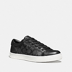 COACH LOGAN LOW TOP IN SIGNATURE - BLACK - FG1653