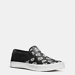 COACH PARKER SLIP ON SNEAKER - BLACK/WHITE FLORAL - FG1662