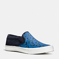 COACH FG1662 Parker Slip On Sneaker DENIM FLORAL