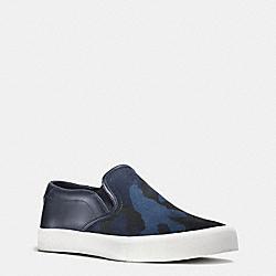 COACH FG1664 Parker Slip On Sneaker INDIGO CAMO