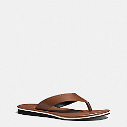 COACH FG1723 Rockaway Flip Flop DARK SADDLE