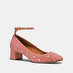 COACH FG1803 Ankle Strap Pump With Prairie Print MELON