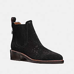 BOWERY CHELSEA BOOT WITH CUT OUT TEA ROSE - FG1823 - BLACK