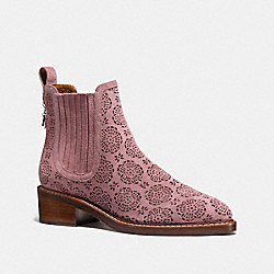 COACH FG1823 Bowery Chelsea Boot With Cut Out Tea Rose DUSTY ROSE