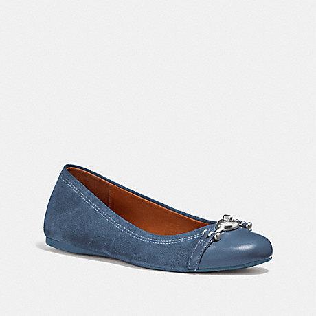 COACH fg1843 LEILA BALLET INK BLUE