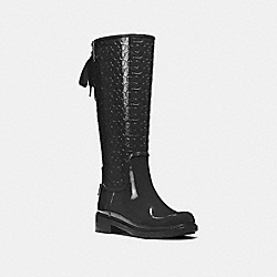 COACH FG1876 Signature Rainboot BLACK