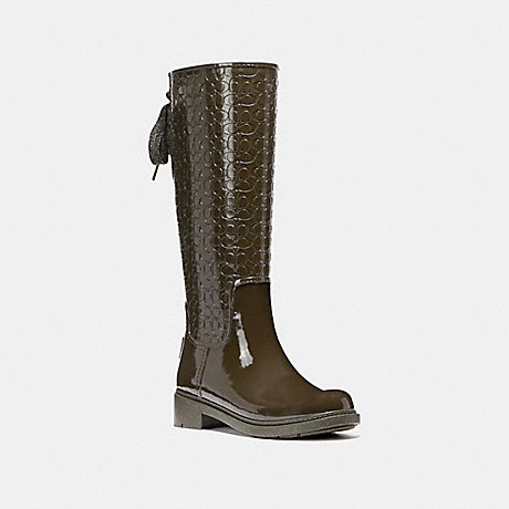 COACH FG1876 SIGNATURE RAINBOOT FERN