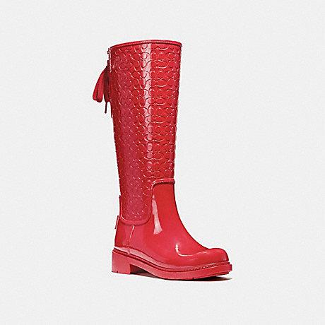COACH FG1876 SIGNATURE RAINBOOT RED