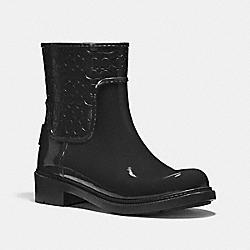 COACH FG1877 Signature Rain Bootie BLACK