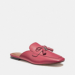 COACH FG1900 Tassel Loafer Slide RED