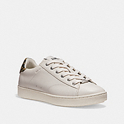 COACH FG1905 C126 Low Top Sneaker WHITE/LIGHT SADDLE
