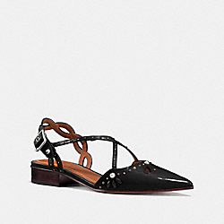 FLAT WITH PRAIRIE RIVETS - FG1982 - BLACK/BLACK