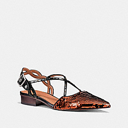 COACH FG1986 Flat With Sequins COPPER/BLACK