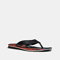 COACH FG2051 Rockaway Flip Flop With Flag BLACK MULTI