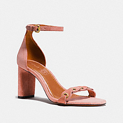 HEEL SANDAL WITH COACH LINK - FG2058 - PEONY