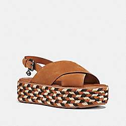 COACH FG2065 Flatform Wedge SADDLE