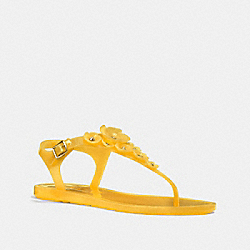 COACH FG2070 Tea Rose Multi Jelly Sandal CANARY