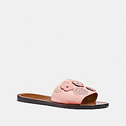 COACH FG2091 - SLIDE WITH TEA ROSE RIVETS PEONY