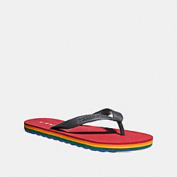 COACH FG2095 Roller Bottom Flip Flop MIDNIGHT NAVY/TRUE RED