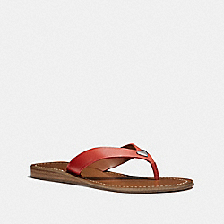 COACH FG2097 Ellis Sandal ORANGE RED