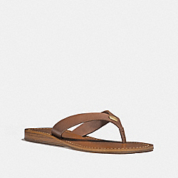 COACH FG2097 Ellis Sandal SADDLE