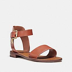 COACH FG2103 Ankle Strap Flat Sandal TERRACOTA
