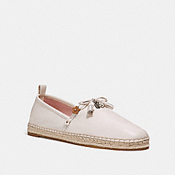 COACH FG2141 Madison Espadrille With Floral Applique CHALK