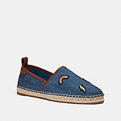 COACH FG2143 Madison Espadrille With Prairie Souvenirs DENIM/SADDLE
