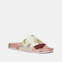 SPORT SLIDE WITH TOSSED ROSE PRINT - fg2179 - CHALK/BLUSH