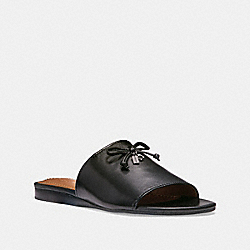 COACH FG2198 Tassel Slide Sandal BLACK