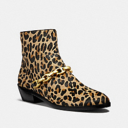COACH FG2418 Allen Bootie With Leopard Print NATURAL